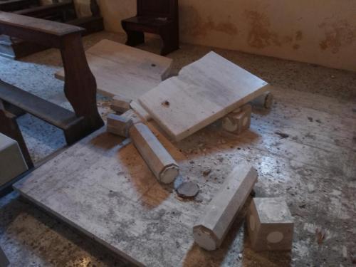 Cassino / Sopralluogo del 20 febbraio 2017 nella Chiesa di S. Lorenzo Martire